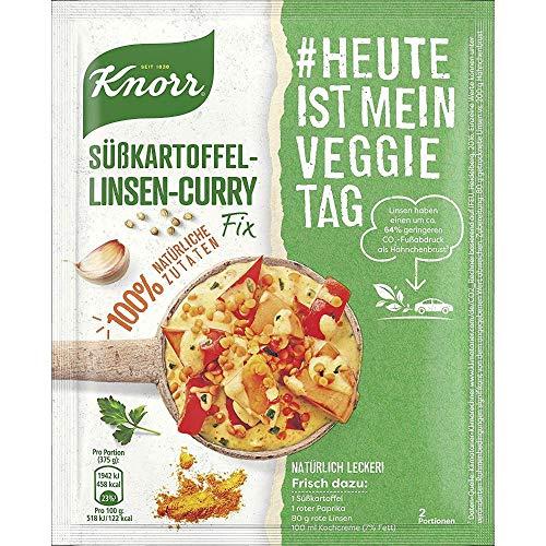 Knorr Natürlich Lecker! Fix für Süßkartoffel-Linsen-Curry #HeuteIstMeinVeggieTag Süßkartoffel-Linsen-Curry vegetarisch, 32 g, 2 Portionen