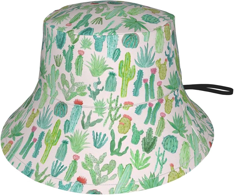 Amiury Ranking TOP12 Houston Mall Cartoon Cactus Kids Bucket Bucke Adjustable Brim Wide Hat