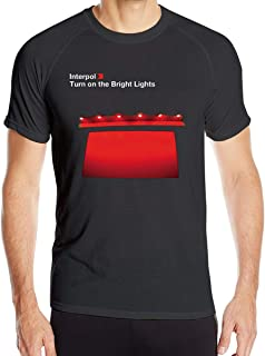 Interpol Turn On The Bright Lights Man Short Sleeve Casual Short-Sleeved T-Shirts