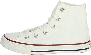 Converse Chuck Taylor All Star Little Miss Chucks Hi Blanco/La Medianoche De La Marina/Granate Algodón Jóvenes Entrenadore...