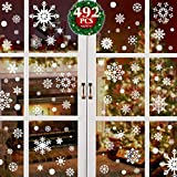 Yuson Girl 492pcs Décoration Déco Noël Lot Sticker Boules Flocons...
