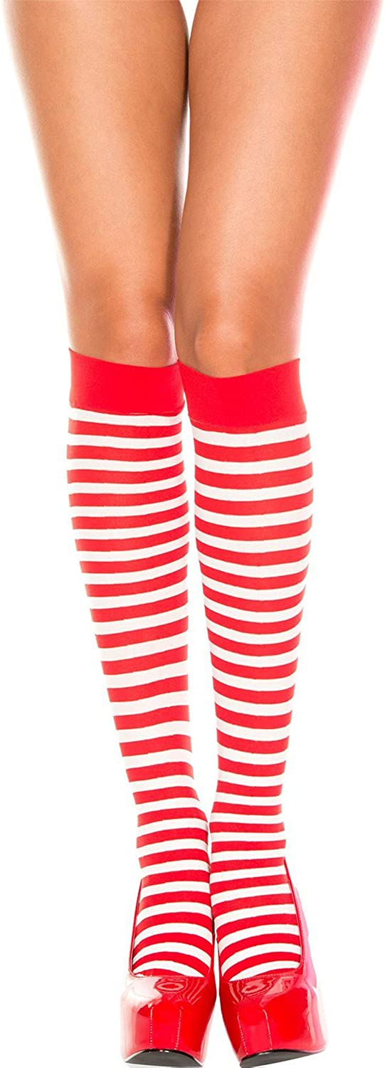 Costume Accessory Red and White Striped Socks Fits One Charlotte Mall mos Minneapolis Mall Size