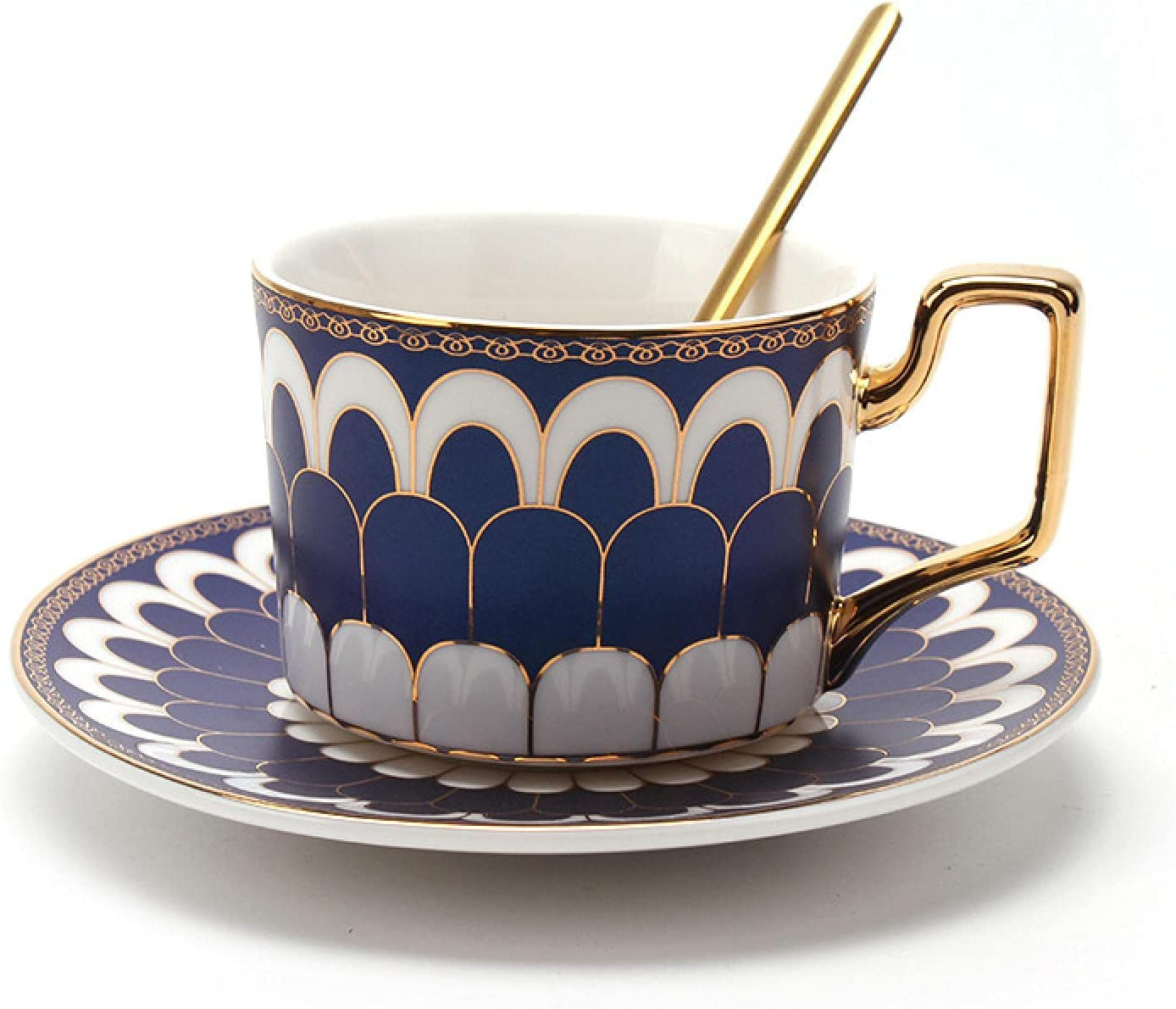 Utes Gold Plated Ceramic Coffee Cup European and After Set Industry No. 1 Quality inspection Plate