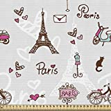 ABAKUHAUS Paris Stoff als Meterware, Stadt der Liebe und