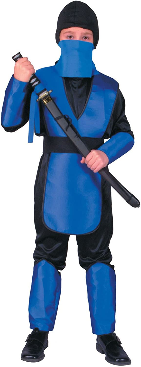 Rg Costumes Combat Warrior  bluee Large Costume