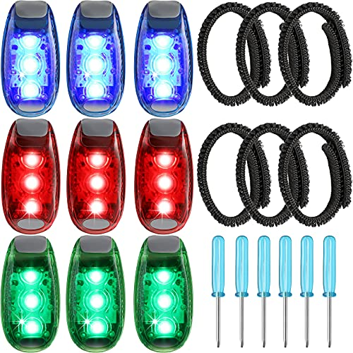 LED Safety Lights Clip On Strobe Lights Waterproof Flashing Lights Reflective Running Lights with...