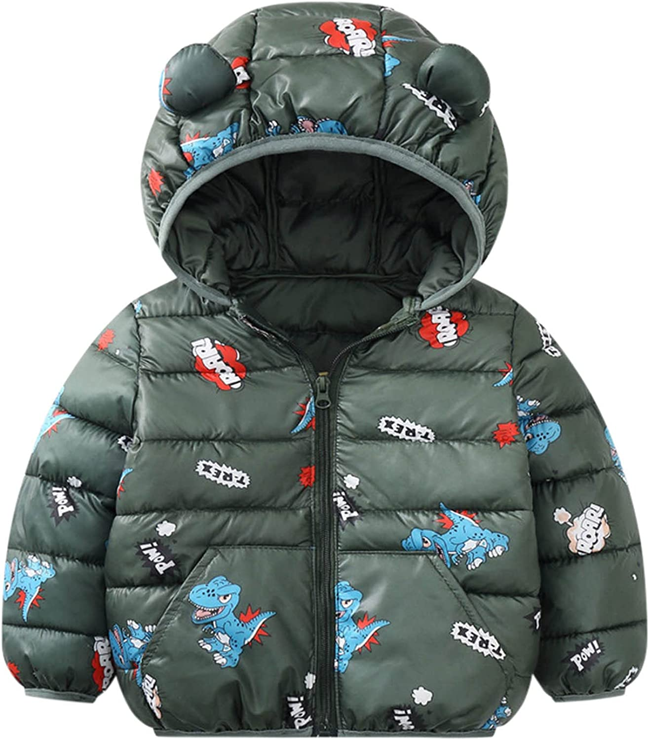Toddler Baby Boy Girl Winter Brand new Hooded New mail order Coat Cartoon Windproof Warm