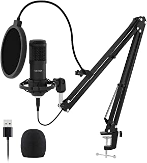 USB Streaming Podcast PC Microphone, SUDOTACK...
