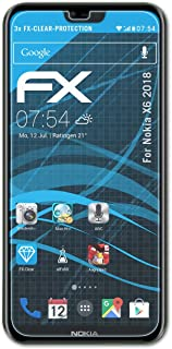 atFoliX Skärmskyddsfilm är kompatibel med Nokia X6 2018 Film, ultra-klar FX Skyddsfilm (3X)