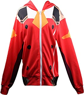 Darling in The FRANXX 02 Cosplay Costume Zipper up Hooded Coat Sweater Red Hoodie