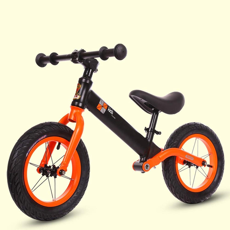 1-1 Kids' Balance Bikes, Shock Bsorber Aluminum Alloy Frame Lightweight Air-filled tyres No-Pedal Adjustable