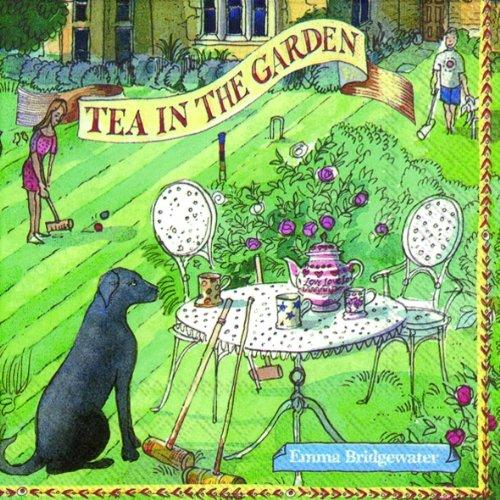 Emma Bridgewater Matthew Rice Lunch Napkins Tea in The Garden New 2014-33 cm Square 20 in Pack