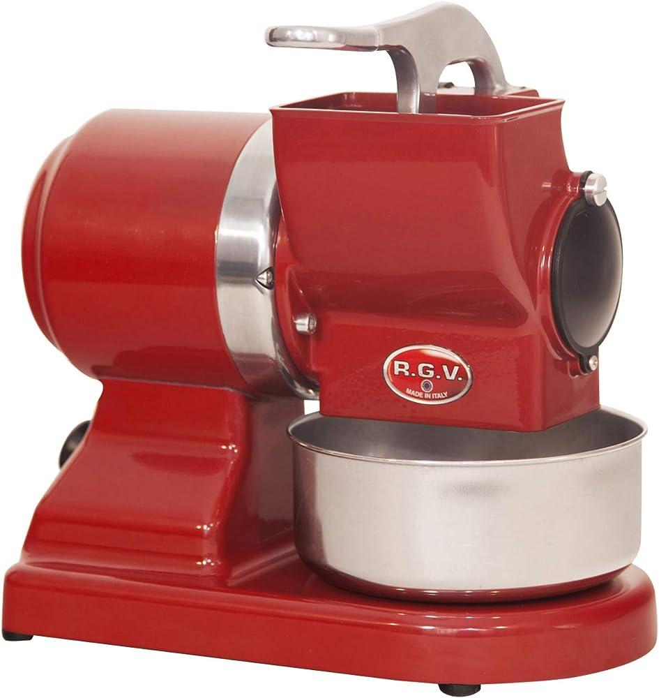 Rgv maxi vip 8g/s grattugia elettrica con rullo professionale estraibile e lavabile in lavastoviglie 90296_ROSSO