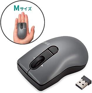 エレコム ワイヤレスマウス 静音 クリック音95%軽減 3ボタン チルトホイール Micro Grast Switch ポップ Mサイズ ブラック M-FPG3DBSBK