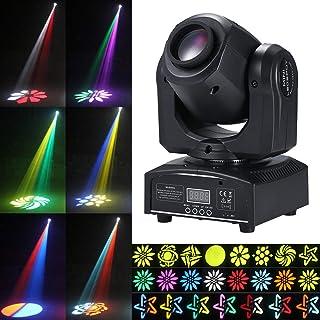 Tomshine 30W DMX-512 Cabeza Movil Led,8 Gobo 15 Colores ,9/11 Canal,4 Modos de Control,Efectos de Iluminación de Escenario para Clubes,Fiesta, Discoteca, Show de DJ