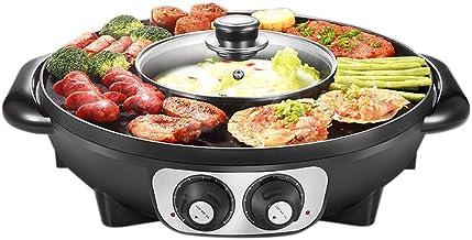 Hot Pot Double Pot de Barbecue coréen, Casserole intégrée, Plaque chauffante électrique Barbecue électrique Plaque de Cuis...