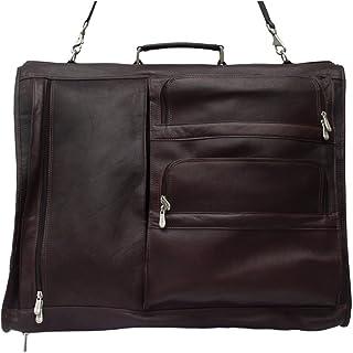 Piel Leather Executive Expandable Garment Bag, Chocolate, One Size