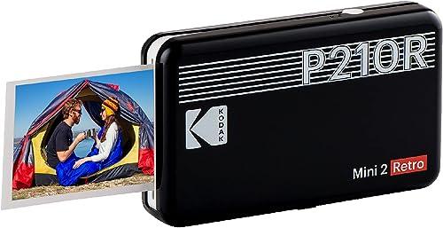 Kodak Mini 2 Imprimante Photo Portable, Photos instantanées Format 54 x 86 mm, Bluetooth et Compatible avec Smartphon...