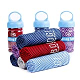 Bogi Cooling Towel for Instant Cooling - 47'x14' - Use as Cooling Scarf Headband Wristband Bandana-Soft Cool Bamboo Fiber-Stay Cool for Yoga Travel Climb Golf Football Tennis&Outdoor Sports(Purple)