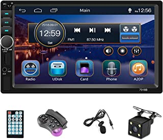 "$75 » Sponsored Ad - Hodozzy 7"" Double Din Car Stereo Touch Screen Bluetooth Car Radio FM AUX USB SD Autoradio MP5 Head Unit Sup..."