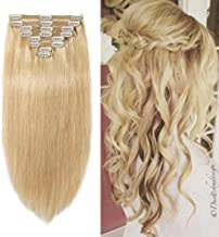 Double Weft 100% Remy Human Hair Clip in Extensions 10''-22'' Grade 7A Quality Full Head Thick Thickened Long Soft Silky Straight 8pcs 18clips(20