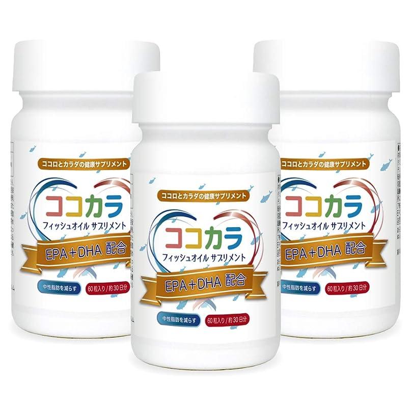 レクリエーションテスト晴れEPA&DHA配合 ココカラサプリ バイオメガ3 フィッシュオイル 中性脂肪対策(60カプセル×3ヶ月分)