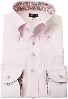 STYLE WORKS (スタイルワークス) ドレスシャツ ワイシャツ カッターシャツ シャツ 派手シャツ 柄シャツ 長袖 綿 ボタンダウン RWD121-411-0105-L