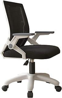 Silla Escritorio Silla de oficina, silla ergonómica giratoria de malla para computadora, brazos abatibles con soporte lumbar, silla de trabajo de altura ajustable, para el hogar y el dormitorio