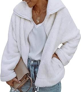 Energy Womens Zipper Long Sleeve Velvet Lapel Warm Pocket Weekend Coat Jacket