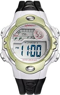 1eca5a061 Niño] Reloj deportivo,Cronómetro digital 30m impermeable Luminoso  Calendario Mes de la semana Multifunción