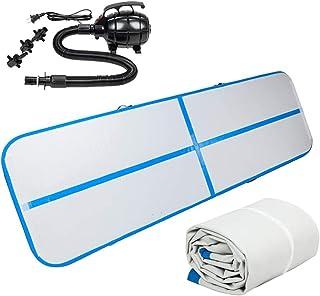 Luft spår spår tumbling matta uppblåsbara 10ft golvmatta 100% vattentät yoga träning tjocklek för gymnastik vatten roligt ...