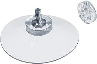 DIYexpert® 4 ventosas Ø 50 mm con rosca M4 x 10 mm incluye tuercas moleteadas transparentes – Fabricado en Alemania