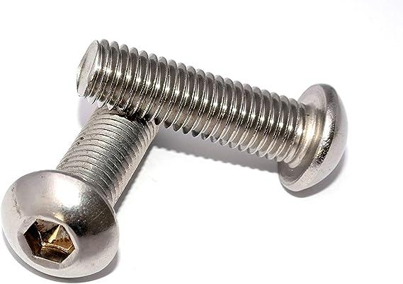 Flachkopfschrauben mit Innensechskant M10x40 DIN 7380-1 Stahl verzinkt 10.9 St/ückzahl 25 Linsenkopfschrauben Linsenschrauben Rundkopfschrauben Flanschschrauben
