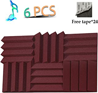 Acoustic Panels Studio Foam Sound Proof Panels Noise Dampening Foam Studio Music Equipment Acoustical Treatments Foam 6 Pack-12''12''2''