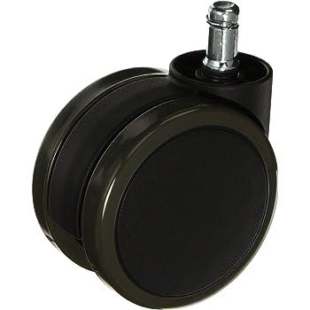 オカムラ オプションパーツ ウレタンキャスター (5個セット) G93107X ブラック (軸の長さ)21L/(床からの取付け高さ)81.5H