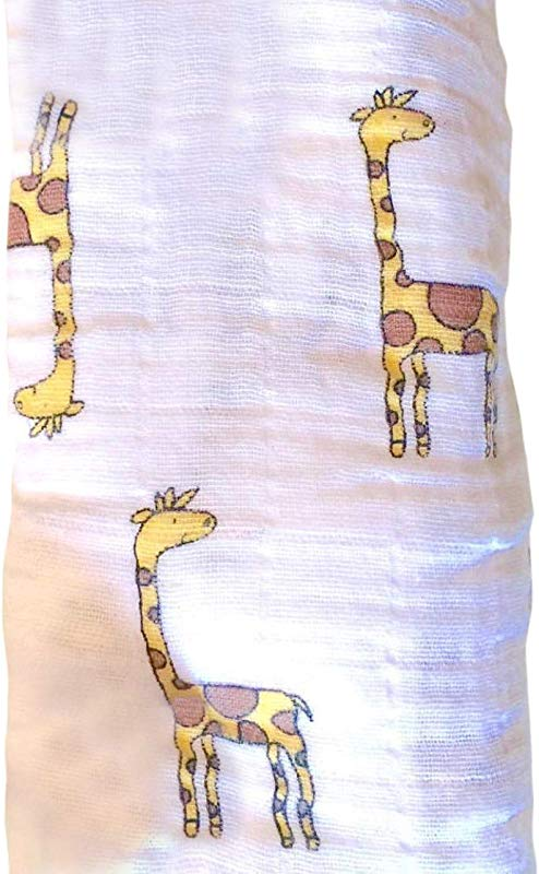Baby Receiving Blanket Giraffe Cotton Plus 2 Stroller Clips