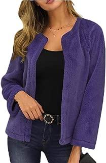 Women's Open Front Cardigan Sweaters Jackets Ultra Cozy Fleece Jacket