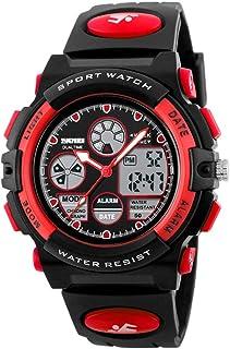 MEGICOT Kid Watch, 50M Waterproof Sport Digital Child Watches with Alarm, Stopwatch, Analog Quartz Wristwatch for Boy Girl