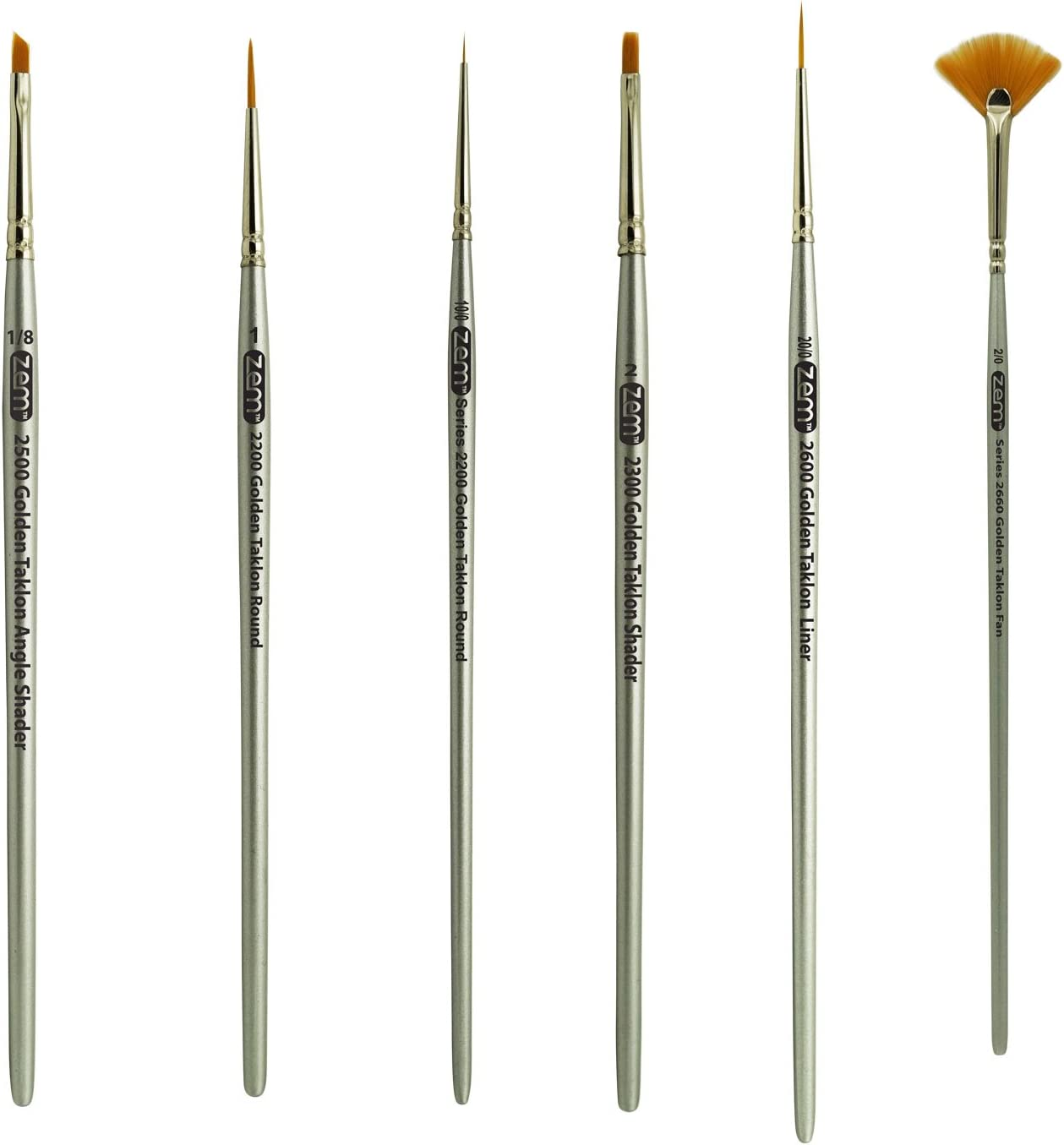 Soldering ZEM Brush Golden Taklon Mini Tiny Detail 0 Set 2 Popular brand in the world Fan Li