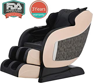 Shiatsu SL Track Massage Chair Recliner Full Body Zero Gravity with Heating Body Scan Robot Hand Rollers,Black