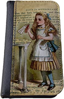 Alice in Wonderland Samsung Galaxy S4 wallet case PU leather case, foldable flip case, book style - Drink me