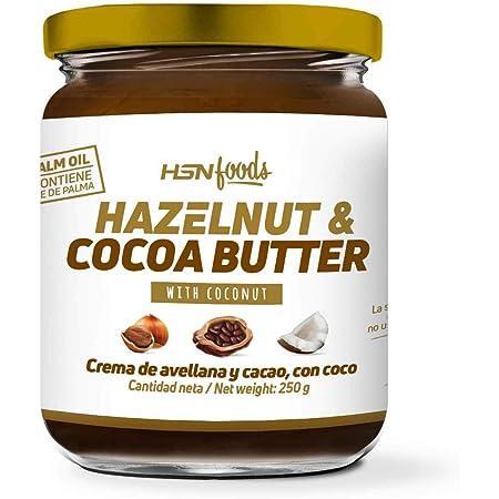 Crema de Avellanas y Cacao con Coco de HSN   100% Natural   Apto Vegano - Sin grasa de palma - Sin grasa trans - Sin azúcar ni sal añadidos, Sin ...