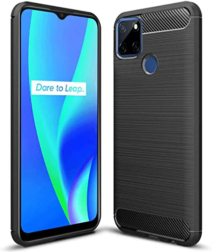JGD PRODUCTS Carbon Fiber Hybrid Armor Drop Tested Shock Proof TPU Back Case Cover for Realme C12 Realme C15