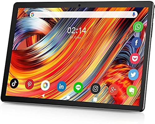 Tablet 10.1 Zoll Android 9.0 3G Telefon Tablets mit 2GB RAM 32GB ROM Zwei SIM Karte Slot und Zwei Kamera 5MP, WiFi Bluetooth GPS Quad Core HD Touchscreen 3G Telefonanrufen ZONKO 10' Tablet schwarz