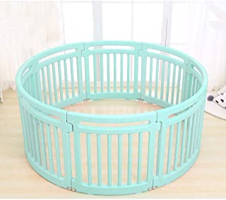 Teppichks Children s Indoor Play Fence Baby Safety Toddler Crawling Fence Baby Home Playground Toy Child Fence  Color Green