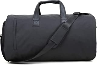 Garment Bags for Travel Convertible Suit Bags with Shoulder Strap Carry on Garment Bag Dress Shoes Storage Bag Black