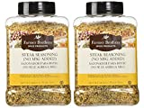 Set of Two - Farmer Brothers Steak Seasoning with no MSG 1lb 12 oz Large Restaurant/Food Service...