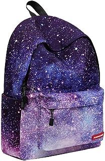حقيبة ظهر ZBK سماء مليئة بالنجوم للفتيات، حقيبة ظهر للكمبيوتر المحمول للنساء، حقيبة مدرسية