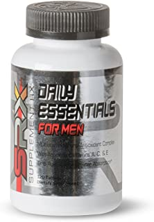 Supplement Rx (SRX) - Daily Essentials Multivitamin for Men, Daily Energy Support, time Released, no Sugar, allergen Free, Gluten Free, High B-Complex, Hypoallergenic, Antioxidants 120 Tablets