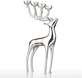 LBYLYH Candelabro Elk Decoración casera Creativa Decoración de Metal Moderna Manualidades Regalo